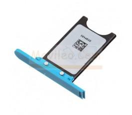 Porta sim y tapa micro usb para Nokia Lumia 800 Azul - Imagen 3