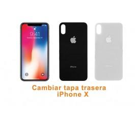 Cambiar tapa trasera iPhone X 10