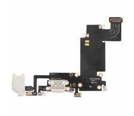 Flex conector carga y micrófono para iPhone 6S Plus blanco