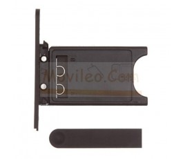 Porta sim y tapa micro usb para Nokia Lumia 800 Negro - Imagen 1