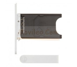 Porta sim y tapa micro usb para Nokia Lumia 800 Blanco - Imagen 1