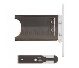 Porta sim y tapa micro usb para Nokia Lumia 800 Blanco - Imagen 2