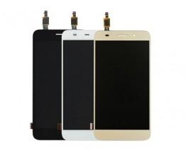 Pantalla lcd display y táctil dorado para Huawei Y3 2017 negro