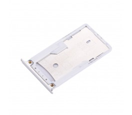 Porta tarjeta sim y microSD para Xiaomi Redmi 4X plata