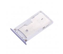 Porta tarjeta sim y microSD para Xiaomi Redmi Note 4X plata
