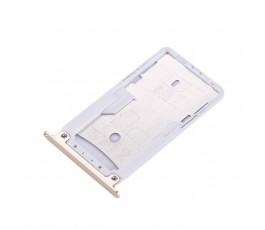 Porta tarjeta sim y microSD para Xiaomi Redmi Note 4X dorada