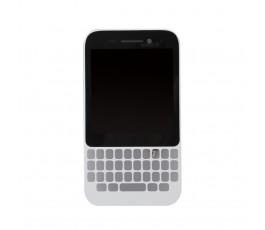 Pantalla completa con marco para Blackberry Q5 blanca