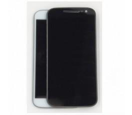 Pantalla completa con marco para Motorola Moto G4 negro