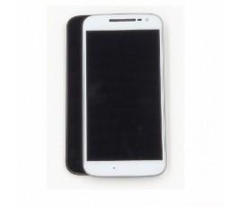 Pantalla completa con marco para Motorola Moto G4 blanco