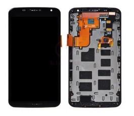 Pantalla completa con marco para Motorola Nexus 6 XT1100 negra
