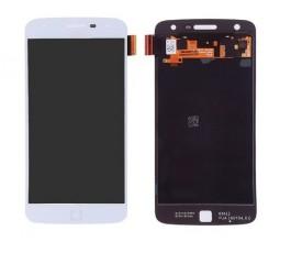 Pantalla completa táctil y lcd para Motorola Moto Z Play Droid blanca