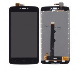 Pantalla completa táctil y lcd para Motorola Moto C negra