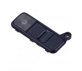 Embellecedor cámara y cristal para Lg K8 K350 K350N negro