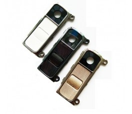 Embellecedor cámara con botones y cristal para Lg K10 blanco