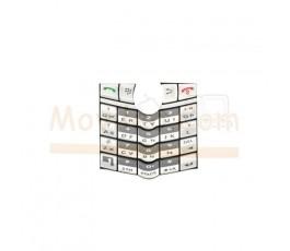 Teclado Blanco para Blackberry 8100 8110 8120 8130 - Imagen 1