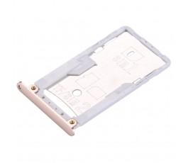 Porta tarjeta sim y microSD para Xiaomi Redmi 3 3S 3X dorado
