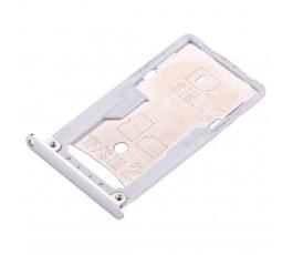 Porta tarjeta sim y microSD para Xiaomi Redmi 3 3S 3X plata