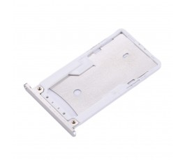Porta tarjeta sim y microSD para Xiaomi Redmi Pro plata