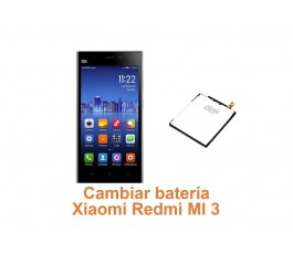 Cambiar batería Xiaomi Redmi MI 3