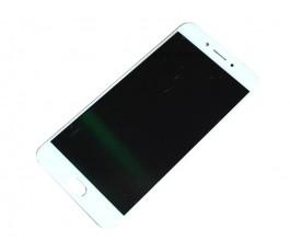 Pantalla completa táctil y lcd display para Oppo F3 blanco