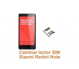 Cambiar lector SIM Xiaomi Redmi Note
