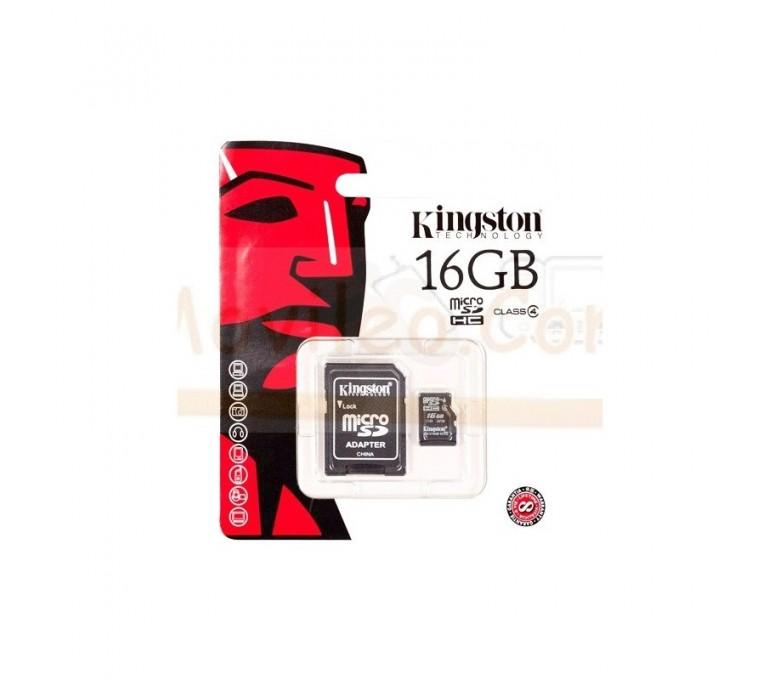 TARJETA MEMORIA MICROSD 16GB KINGSTON - Imagen 1