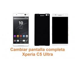 Cambiar pantalla completa Xperia C5 Ultra