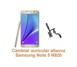 Cambiar auricular altavoz Samsung Galaxy Note 5 N920