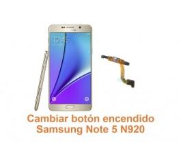 Cambiar botón encendido Samsung Galaxy Note 5 N920