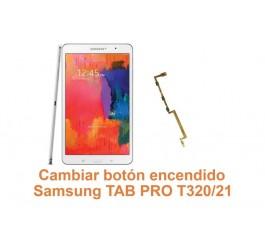Cambiar botón encendido Samsung Tab Pro T320