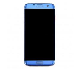 Pantalla completa con marco para Samsung Galaxy S7 Edge G935 azul coral