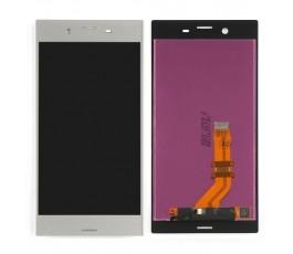 Pantalla completa táctil y lcd para Sony Xperia XZ plateado