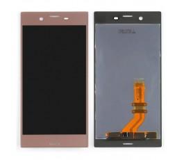 Pantalla completa táctil y lcd para Sony Xperia XZ rosa oro