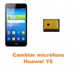 Cambiar micrófono Huawei Y6