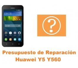 Presupuesto de reparación Huawei Y5 Y560