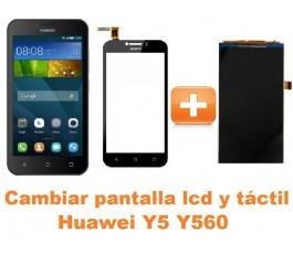 Cambiar pantalla completa lcd y táctil Huawei Y5 Y560