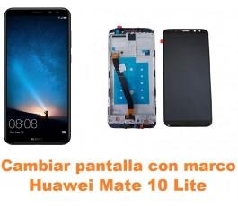 Cambiar pantalla completa con marco Huawei Mate 10 Lite