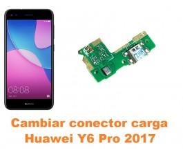 Cambiar conector carga Huawei Y6 Pro 2017