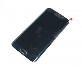 Pantalla completa con marco para Samsung S6 Edge G925 Azul reparada