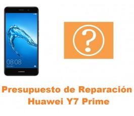 Presupuesto de reparación Huawei Y7 Prime