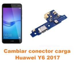 Cambiar conector carga Huawei Y6 2017