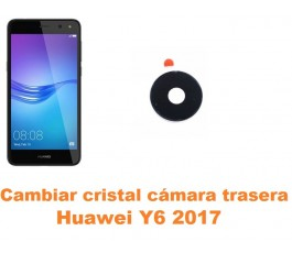 Cambiar cristal cámara trasera Huawei Y6 2017