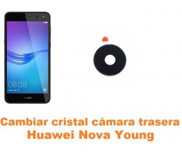 Cambiar cristal cámara trasera Huawei Nova Young