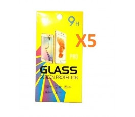 Pack 5 cristales templado para Huawei P20 Pro