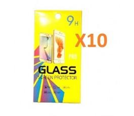 Pack 10 cristales templado para Huawei P20 Pro