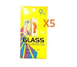 Pack 5 cristales templado para Huawei P20 Lite