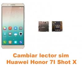 Cambiar lector sim Huawei Honor 7i Shot X