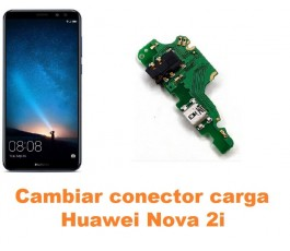 Cambiar conector carga Huawei Nova 2i