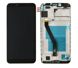 Pantalla completa con marco para Huawei Y6 2018 negro