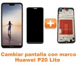 Cambiar pantalla completa con marco Huawei P20 Lite
